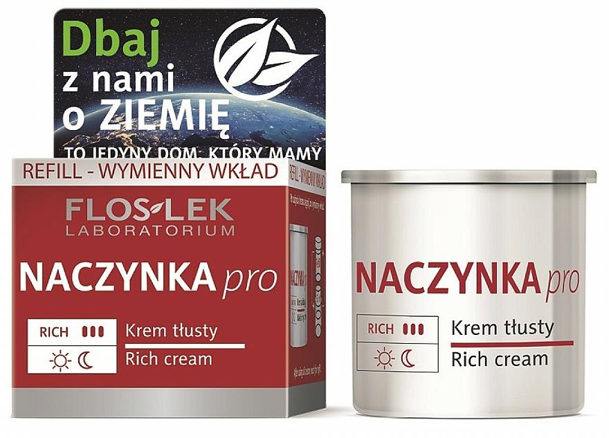 Reichhaltige Gesichtscreme für Kapillarhaut - Floslek Dilated Capillaries Rich Cream Refill (Refill)