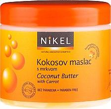 Düfte, Parfümerie und Kosmetik Kokosbutter für den Körper mit Karotte - Nikel Coconut Butter