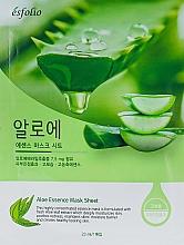 Düfte, Parfümerie und Kosmetik Feuchtigkeitsspendende und beruhigende Tuchmaske für das Gesicht mit Aloe Vera-Extrakt - Esfolio Aloe Essence Mask Sheet