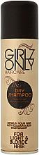 Düfte, Parfümerie und Kosmetik Trockenshampoo für helles und blondes Haar - Girlz Hair Care Only Dry Shampoo Blonde Hair