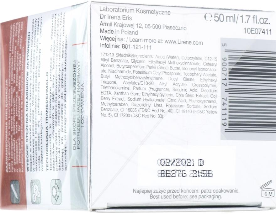 Pflegende und regenerierende Tagescreme mit Chia-Goji-Extrakt und Bernsteinsäure SPF 15 - Lirene Lab Therapy Nourishment Chia-Goji Skin 10% — Bild N2