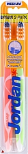 Düfte, Parfümerie und Kosmetik Zahnbürste mittel Advanced orange, hellgrün 2 St. - Jordan Advanced Medium