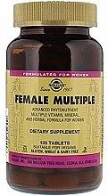 Nahrungsergänzungsmittel Vitamin- und Mineralkomplex für Frauen - Solgar Female Multiple — Bild N3
