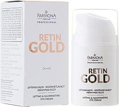 Düfte, Parfümerie und Kosmetik Lifting-Creme für leuchtende Augenpartie - Farmona Professional Retin Gold Lifting & Illuminating Eye Cream