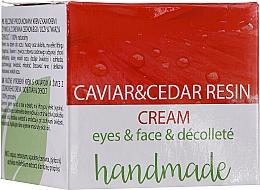 Düfte, Parfümerie und Kosmetik Augen-, Gesichts- und Dekolletécreme mit Kaviarextrakt und Harz - Hristina Cosmetics Handmade Caviar & Cedar Resin Cream