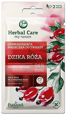 Verjüngende Gesichtsmaske mit Wildrose - Farmona Herbal Care — Bild N1