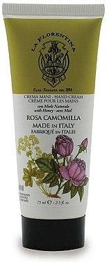 Handcreme mit Honig, Rose und Kamille - La Florentina Rose & Chamomille Hand Cream — Bild N1