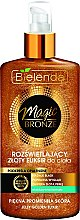 Düfte, Parfümerie und Kosmetik Aufhellendes Körpergel mit goldenen Perlen - Bielenda Magic Bronze Illuminating Golden Body Elixir