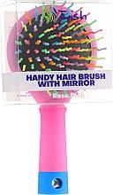 Haarbürste mit Speigel rosa - Twish Handy Hair Brush with Mirror Rose Pink — Bild N2