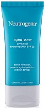 Düfte, Parfümerie und Kosmetik Feuchtigkeitsspendende Gesichtslotion mit Hyaluronsäure und Antioxidantien SPF 25 - Neutrogena Hydro Boost City Shield Hydrating Lotion SPF 25