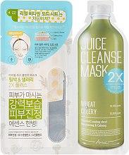 Düfte, Parfümerie und Kosmetik 2-stufige Gesichtsmaske mit Weizen und Sellerie - Ariul Juice Cleanse 2X Plus Mask Pack Wheat & Celery