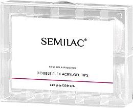 Düfte, Parfümerie und Kosmetik Acryl-Nagelverlängerungen 120 St. - Semilac Double Flex Acrylgel Dual Tips