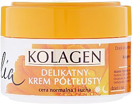 Düfte, Parfümerie und Kosmetik Halbfettige Gesichtscreme mit Ringelblume und Kollagen - Celia Collagen Soft Semi-Rich Face Cream