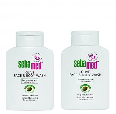Set - Sebamed Olive Face & Body Wash (wash/2x200ml) — Bild N1