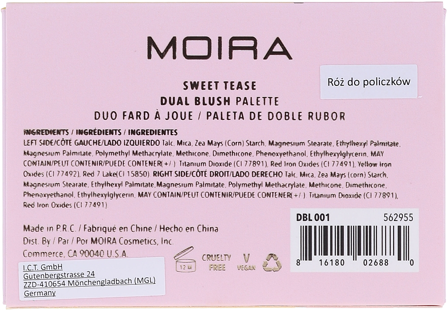 Gesichtsrouge - Moira Blushing Goddess Duo Blush — Bild N4