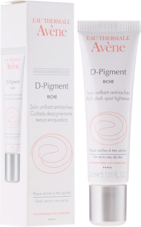 Anti-Aging Autobronzante für das Gesicht gegen Pigmentflecken mit SPF 30 - Avene Eau Thermale D-Pigment Dark Spot Lightener — Bild N1