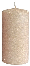 Düfte, Parfümerie und Kosmetik Dekorative Kerze rosa-gold - Artman Glamour Ø7 x H14 cm