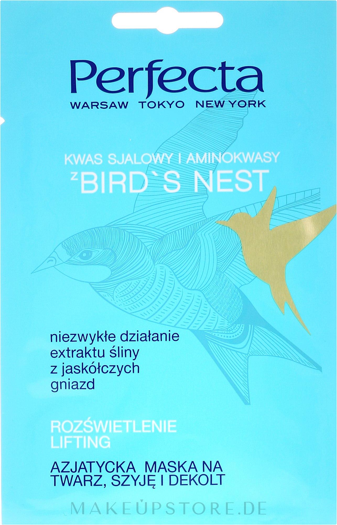 Gesichts-, Hals- und Dekolletémaske - Perfecta Bird's Nest Face Mask (Probe) — Bild 10 ml