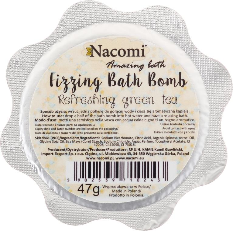 Sprudelnde Badebombe - Nacomi Green Tea Bath Bomb — Bild N2
