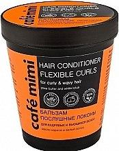 Düfte, Parfümerie und Kosmetik Haarspülung mit Sheabutter und weißem Lotus für lockiges und welliges Haar - Cafe Mimi Conditioner
