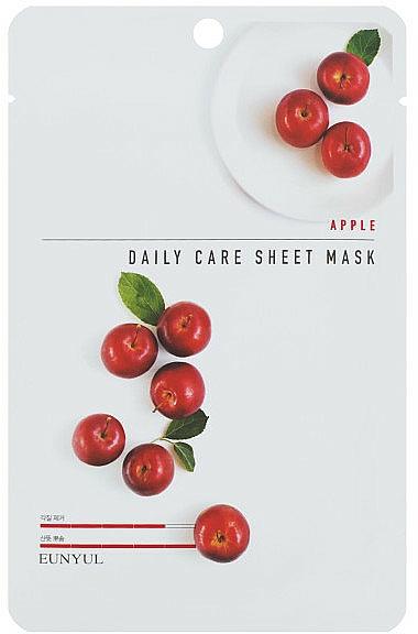 Tuchmaske für das Gesicht mit Apfelextrakt - Eunyu Daily Care Sheet Mask Shea Apple — Bild N1