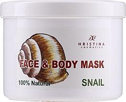 Düfte, Parfümerie und Kosmetik Beruhigende pflegende und feuchtigkeitsspendende Körper- und Gesichtsmaske mit Schneckenextrakt - Hristina Cosmetics 100% Natural Snail Face & Body Mask