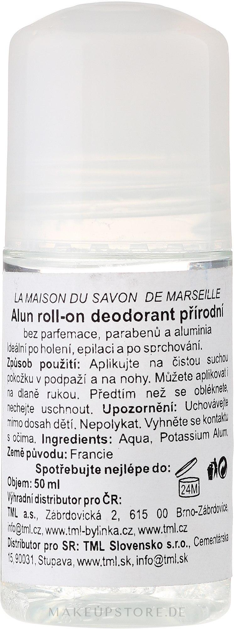 Deo Roll-on Alaunstein - La Maison du Savon de Marseille Pierre D'alun Deodorant — Bild 50 ml