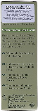 Pflegende Nachtcreme mit Olivenöl, Aloe Vera und Vitamin E - Le Petit Olivier Face Cares With Olive Oil — Bild N5