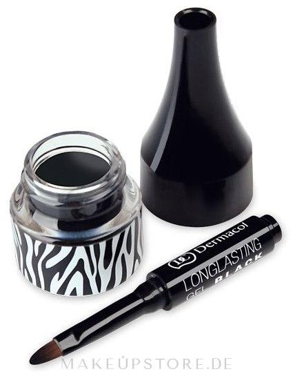 Langanhaltender Gel Eyeliner - Dermacol Long Lasting Gel — Bild Black