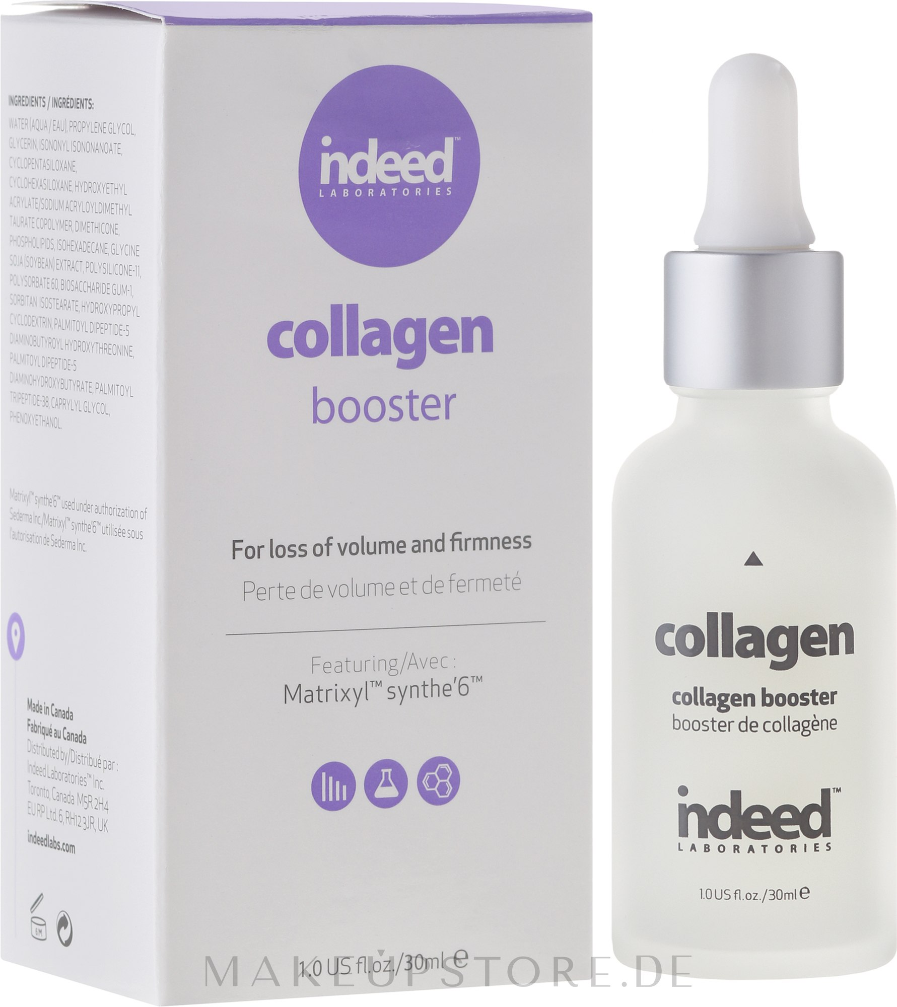 Gesichtsbooster mit Kollagen - Indeed Labs Collagen Booster — Bild 30 ml