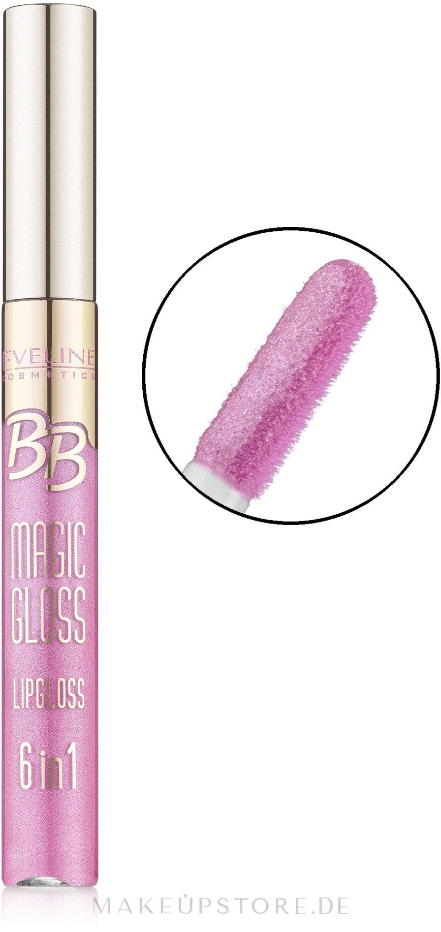 Lipgloss - Eveline Cosmetics BB Magic Gloss Lipgloss 6 w 1 — Bild 359