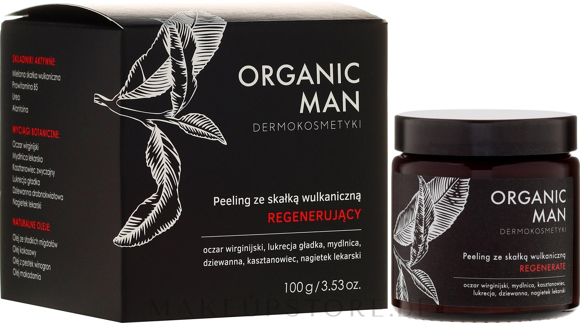 Regenerierendes Gesichtspeeling mit Vulkangestein für Männer - Organic Life Dermocosmetics Man — Bild 100 g