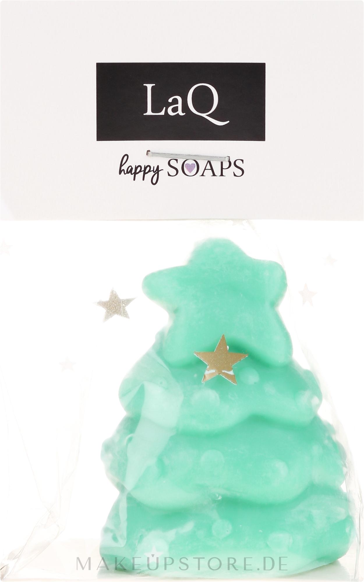 Handgemachte Naturseife Weihnachtsbaum mit Kiwiduft - LaQ Happy Soaps Natural Soap — Bild 45 g