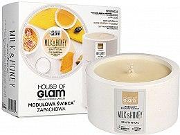 Düfte, Parfümerie und Kosmetik Soja-Duftkerze Milk & Honey - House of Glam Raw White Collection Milk & Honey Spa Beauty Ritual Candle
