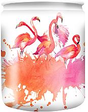 Düfte, Parfümerie und Kosmetik Duftkerze im Glas mit Muster Flamingo 82/68 - Bolsius Aromatic