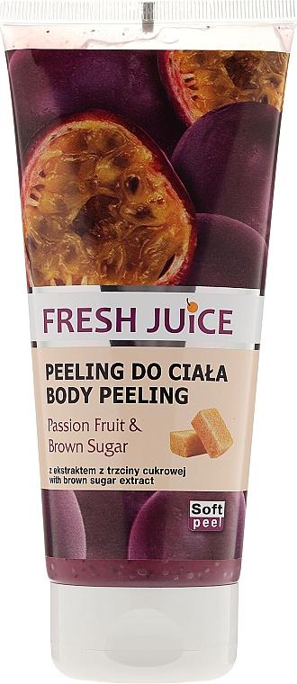 Feuchtigkeitsspendendes Körperpeeling mit Passionsfrucht und braunem Zucker - Fresh Juice Passion Fruit & Brown Sugar