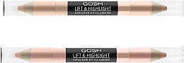 Düfte, Parfümerie und Kosmetik Doppelseitiger Stift mit Lifteffekt & Highlighter - Gosh Lift & Highlight
