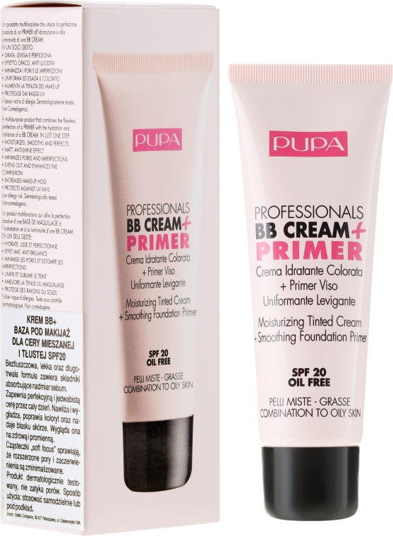 Anti-Aging BB Creme SPF 20 - Pupa BB Cream + Primer For Combination To Oily Skin — Bild N1
