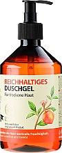 Düfte, Parfümerie und Kosmetik Reichhaltiges Duschgel mit Bio Extrakten aus Pfirsich und Vanille - Rezepte der Oma Gertrude