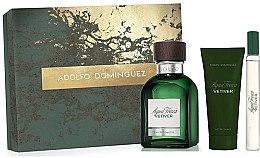 Düfte, Parfümerie und Kosmetik Adolfo Dominguez Agua Fresca Vetiver - Duftset (Eau de Toilette 120ml + After Shave Balsam 75ml + Eau de Toilette Mini 20ml)