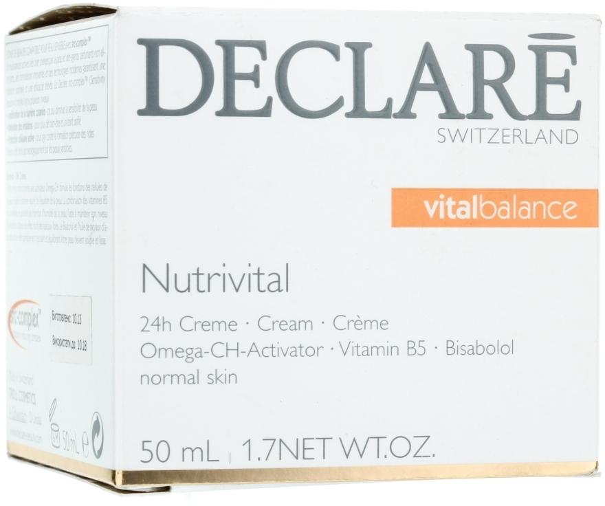 Pflegende und beruhigende Gesichtscreme mit Bisabolol und Aprikosenkernsamenöl - Declare Nutrivital 24 h Cream — Bild N1