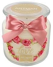 Düfte, Parfümerie und Kosmetik Duftkerze im Glas With Love - Artman With Love