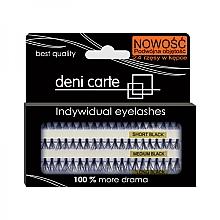 Düfte, Parfümerie und Kosmetik Wimpernbüschel- Set für doppeltes Volumen - Deni Carte Fake Eyelashes D-SML
