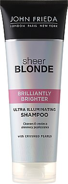Shampoo zum Beleben von blonder Haarfarbe mit perlmutternem Glanz - John Frieda Sheer Blonde Brilliantly Brighter Shampoo — Bild N1