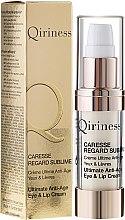 Düfte, Parfümerie und Kosmetik Feuchtigkeitsspendende Anti-Aging Gesichtscreme für Augenpartie und Lippen - Qiriness Caresse Regard Sublime