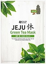 Düfte, Parfümerie und Kosmetik Beruhigende und feuchtigkeitsspendende Gesichtsmaske aus grünem Tee - SNP Jeju Rest Green Tea Mask
