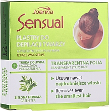 Düfte, Parfümerie und Kosmetik Enthaarungswachsstreifen mit Grüntee-Extrakt für das Gesicht - Joanna Sensual Depilatory Face Strips With Green Tea Extract