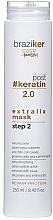 Düfte, Parfümerie und Kosmetik Glättende Haarmaske mit Seidenprotein und Aminosäuren - Braziker Hair Mask After Keratin Straightening