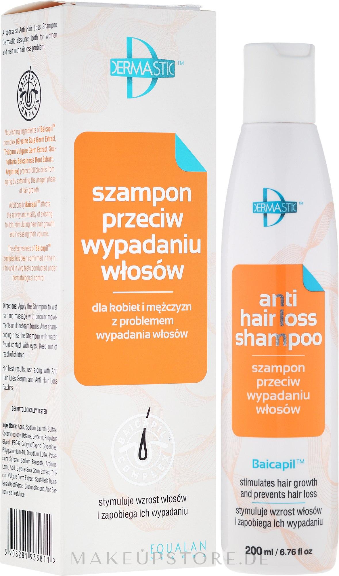Keratin Shampoo gegen Haarausfall - Dermastic Anti Hair Shampoo — Bild 200 ml