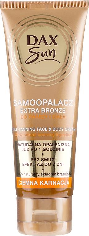 Autobronzante für dunkle Haut - DAX Sun Extra Bronze Dark Skin Self-Tanning Cream — Bild N1